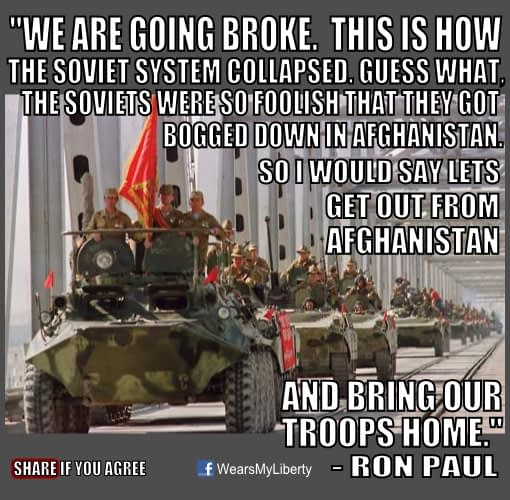 Ron Paul End The War In Afghanistan Bring The Troops Home