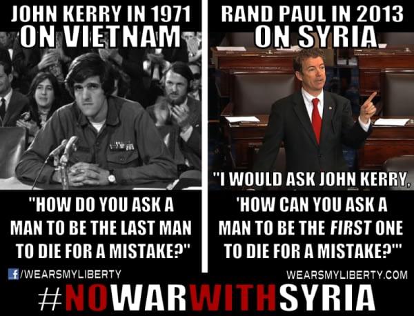 Rand Paul No War In Syria