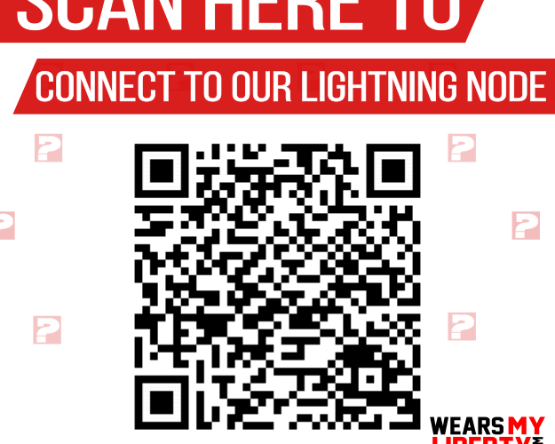 WearsMyLiberty Lightning Network Node - Scan Here To Connect