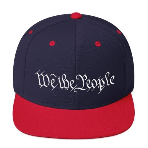 We The People Snackback Hat - Navy/Red