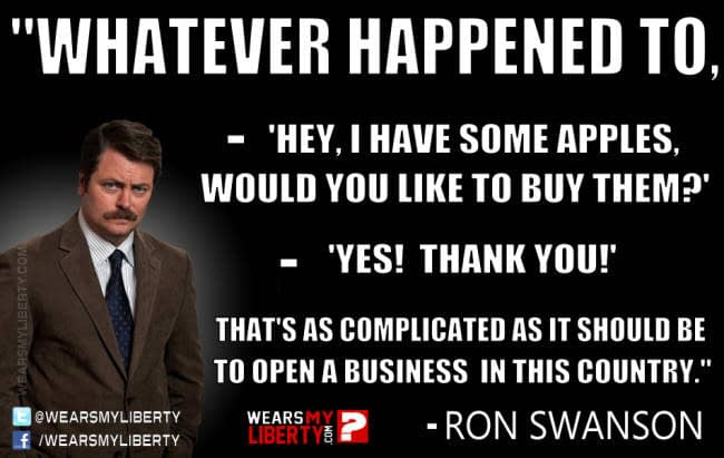 Ron_Swanson_Starting_A_Business_In_America_Government_License