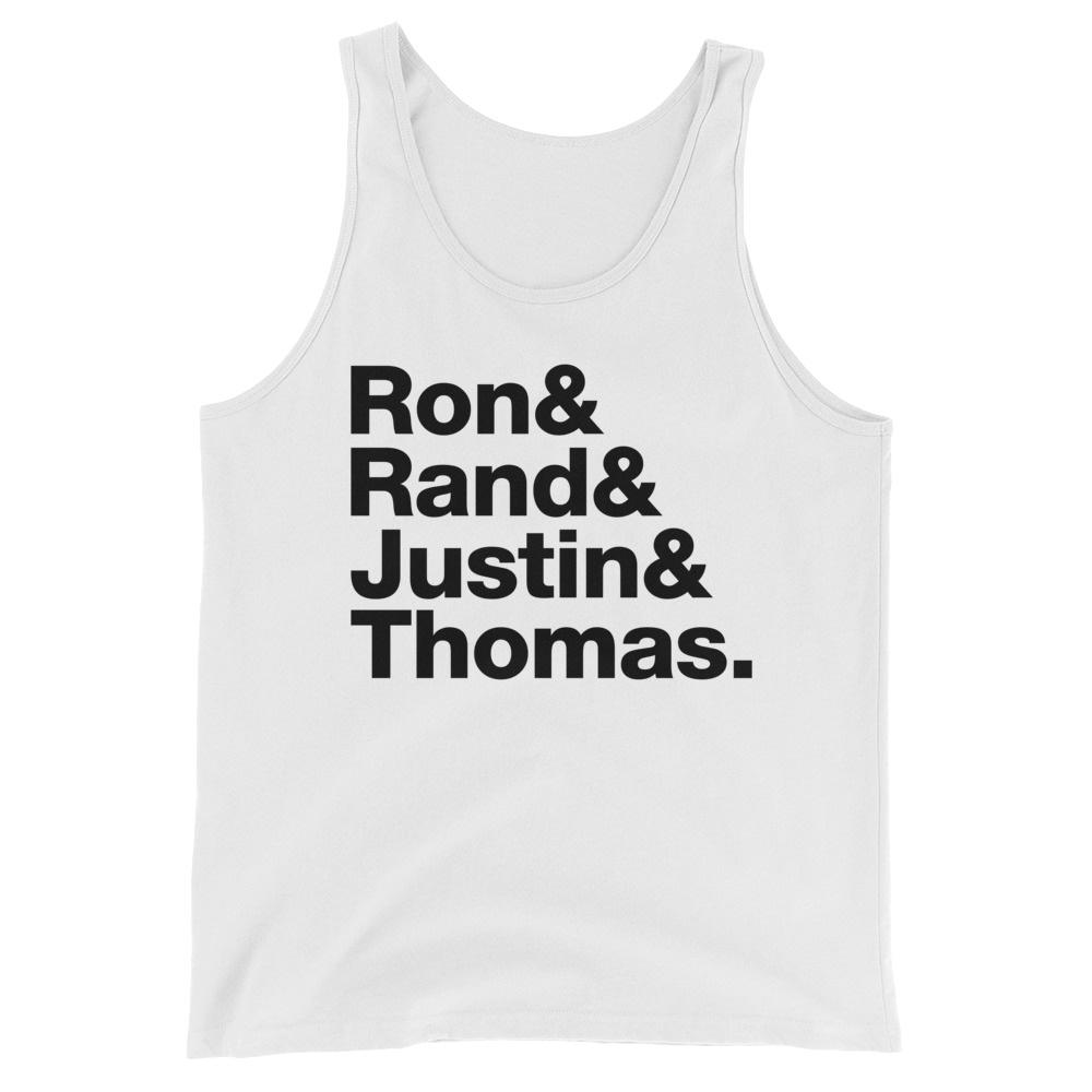 Liberty's Fab Four - Ron Paul - Rand Paul - Justin Amash - Thomas Massie - Tank Top - White
