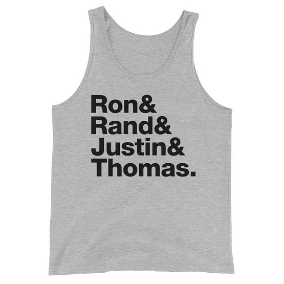 Ron Paul & Rand Paul & Justin Amash & Thomas Massie Liberty's Fab Four Tanktop - Heather