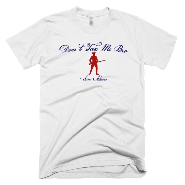 """Don't Tax Me Bro"" Sam Adams Red, White & Blue T-Shirt"