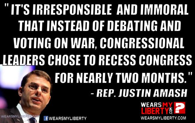Justin Amash Congress Vote On War Syria ISIS Obama