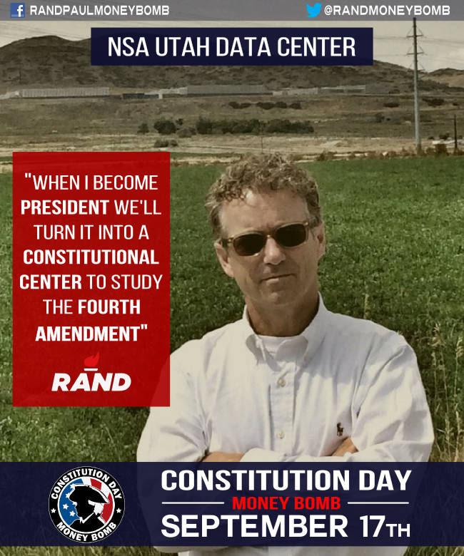 Rand Paul At The NSA Data Center In Utah
