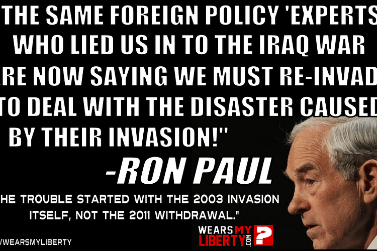 Ron Paul Another War In Iraq