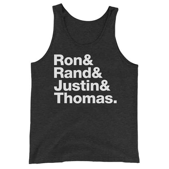Ron Paul & Rand Paul & Justin Amash & Thomas Massie Liberty's Fab Four Tanktop - Triblend