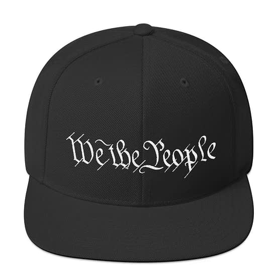 """""""We The People"""" Embroidered Snapback Hat"""