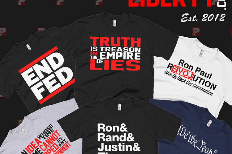 WearsMyLiberty Liberty Ron Paul Shirts Libertarian Rand Paul Justin Amash